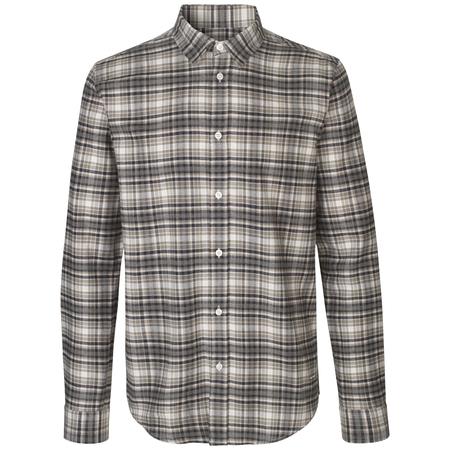 Samsoe Samsoe Liam Nx Shirt - Silver/Blue Check