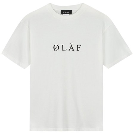 OLAF olaf serif tee - Optical White