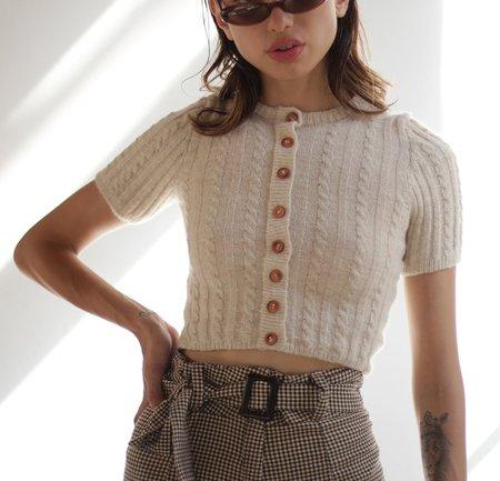 Tach Dalia Mohair Elastano Knit Top Cropped Sweater