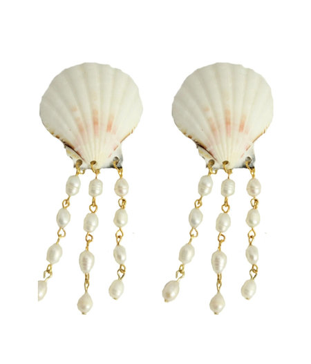 Serendipitous Project Shell Drop Earrings