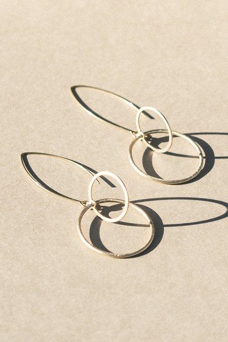 Modern Madini Kinetic Hoop Within Hoop Earrings - Gold