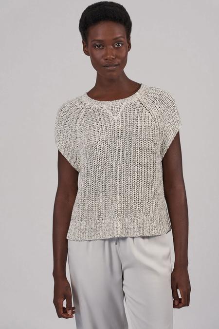 ATM Chunky Mouline Raglan Sweater - Chalk/Black