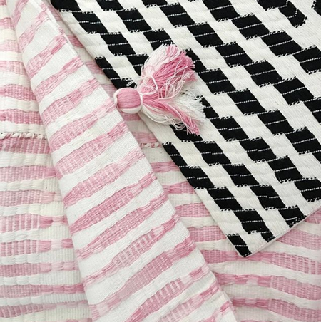 Archive New York Backordered Almolonga Zig Zag Pillow - Black/White
