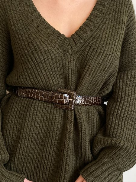 About Arianne roma Belt - olivo