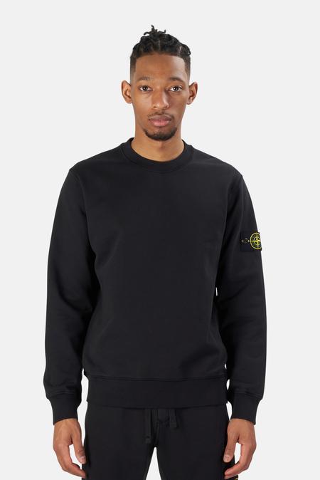 Stone Island Garment Dyed Crewneck Sweater - Black