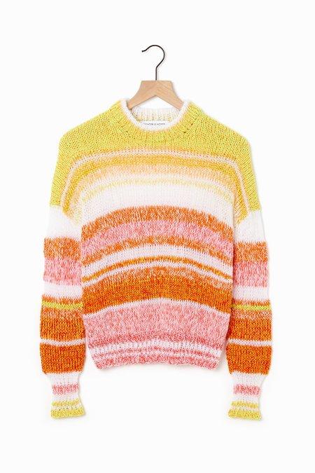 Spencer Vladimir Jupiter Ombre Sweater - orange/sun