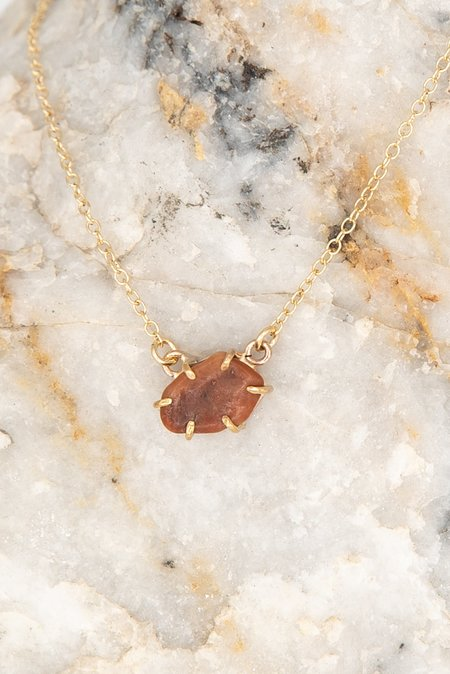 Jess Meany 8 Stone Necklace - 14k gold-filled