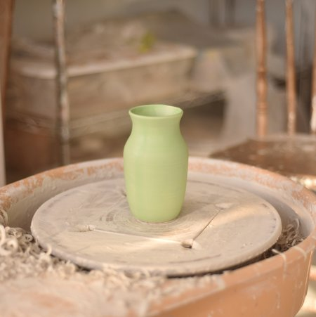 Amanda Marie Olpe Vase - lime green