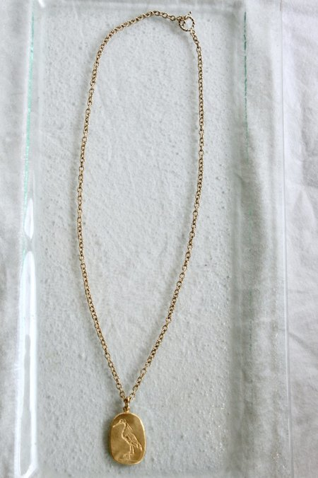 Mercurial NYC Quiet Heron  Necklace - Gold Fill