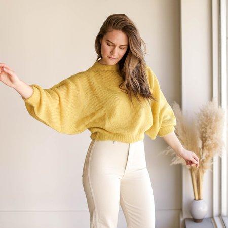 Atelier Delphine Lightweight Balloon Sleeve Sweater - Dijon