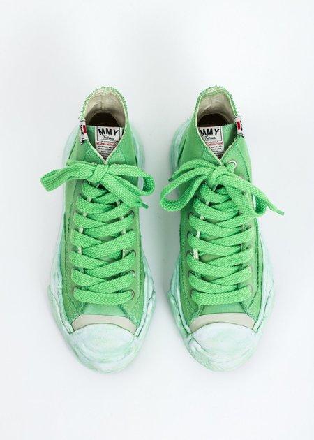 Mihara Yasuhiro Original Sole Overdyed Canvas Hank HI Sneaker - Neon Green