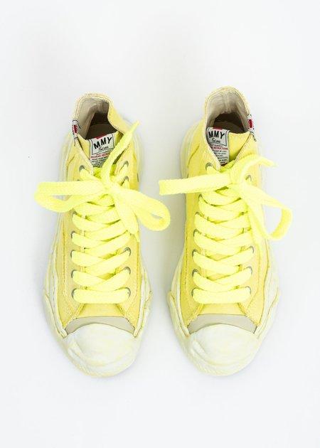 Mihara Yasuhiro Original Sole Overdyed Canvas Hank HI Sneaker - Neon Yellow