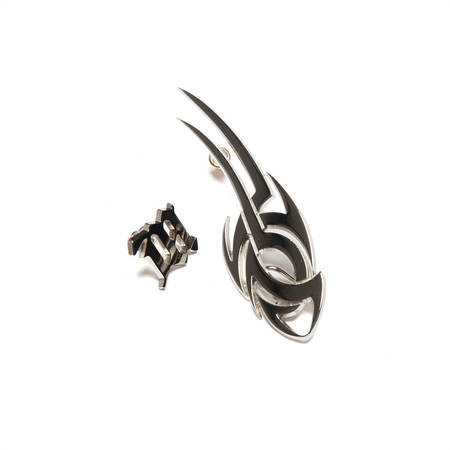 MISBHV Tribal + Monogram Earrings - Silver