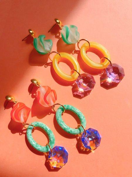 SJO Jewelry Santolina Earrings - 22kt gold plate