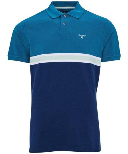 Barbour Block Colour Polo Shirt - Lyons Blue