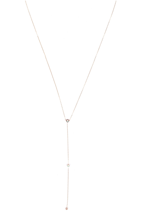 IL Design Milk & Honey 14K Gold and Three Drop Opal Necklace - Gold/Opal
