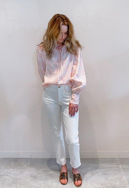 RG KANE Keyhole Blouse - Pink