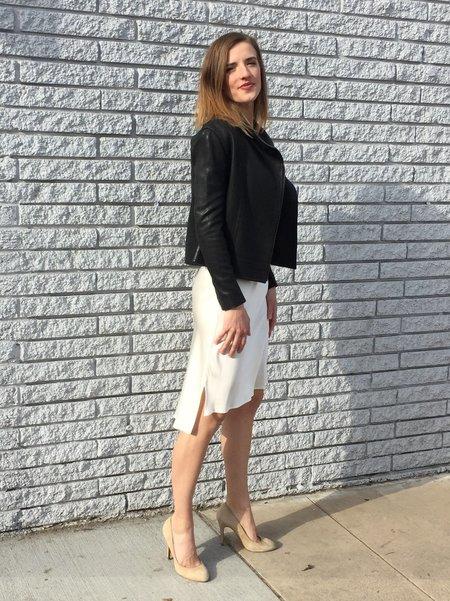 Eight Dreams High Low Silk Slip Dress - Ivory