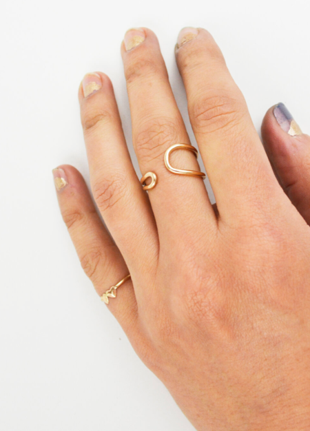 Gem & Blue Open Wrap Ring