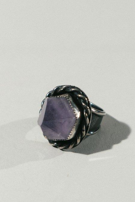 Morgaine Faye Amethyst Crystal Ring - Silver