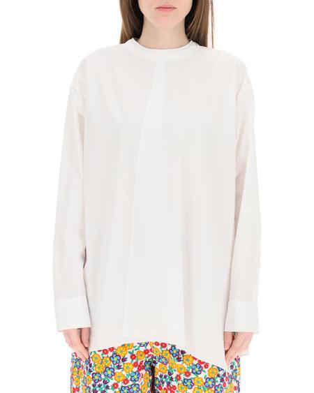 Marni Asymmetric Cotton Shirt - white
