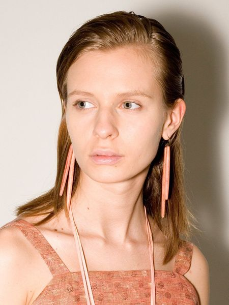 This Woman's Work Double Bone Earrings - Bone/Brass