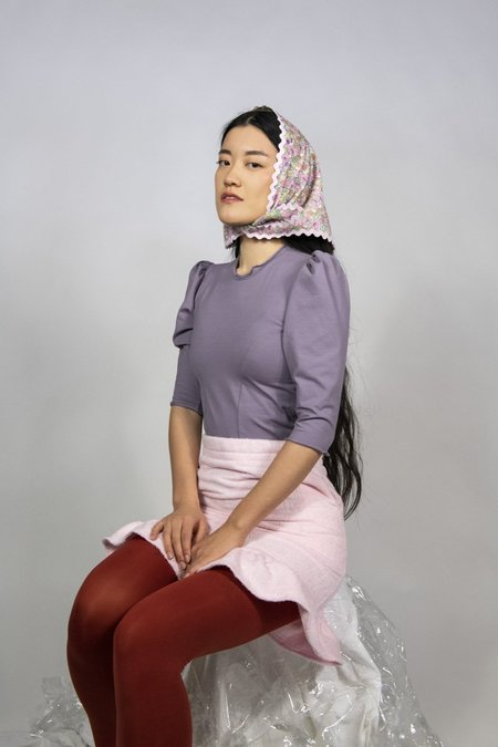 Rightful Owner The Micro Puff top - lavender