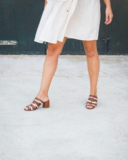 Naguisa Cinder Multi Sandals - Multi Brown