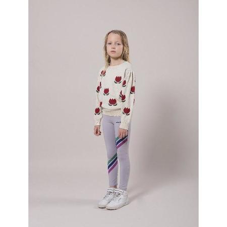 kids bobo choses chocolate flowers jumper - Cream/Red
