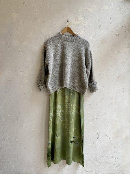Riverside Tool & Dye Silk Charmeuse Slip Dress - Kelp