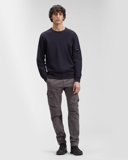 C.P. Company Light Fleece Garment Dyed Sweatshirt - Blue