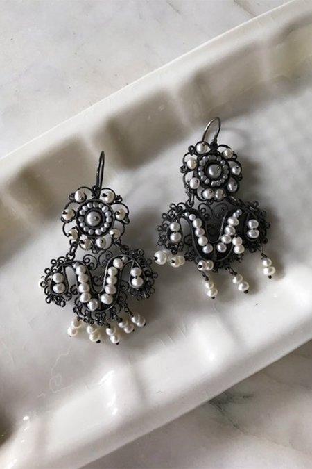 VintageMexican Wedding Earrings