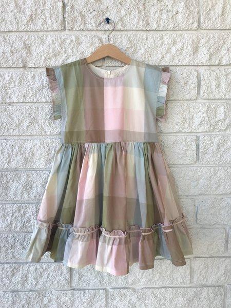 kids Pink Chicken NILEY DRESS - Gingham