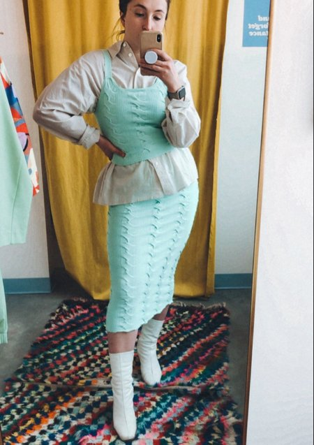 Native Youth Bergamot Skirt - Mint