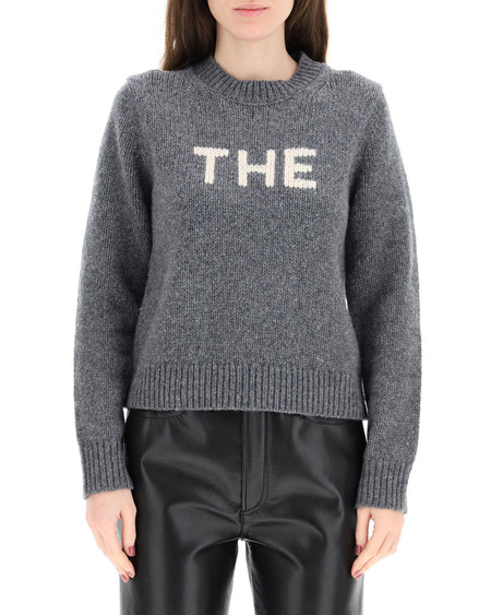 """Marc Jacobs """"THE"""" Intarsia Sweater - Gray"""