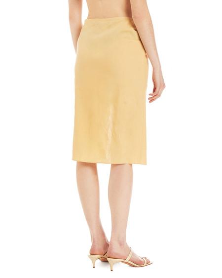 Jacquemus Drap Linen Skirt - Yellow