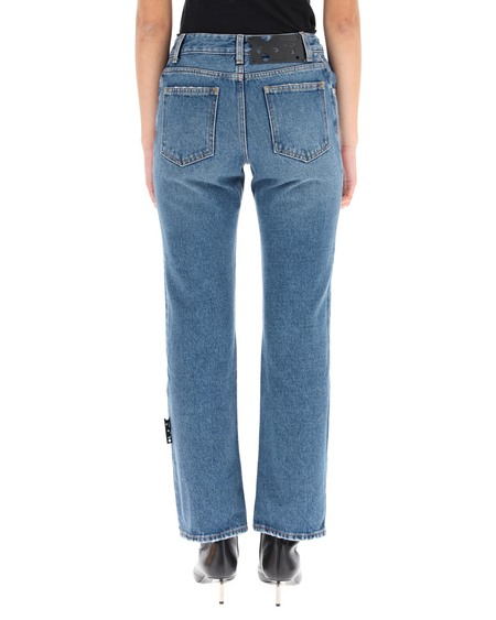 Off-White Cropped Denim Jeans - blue