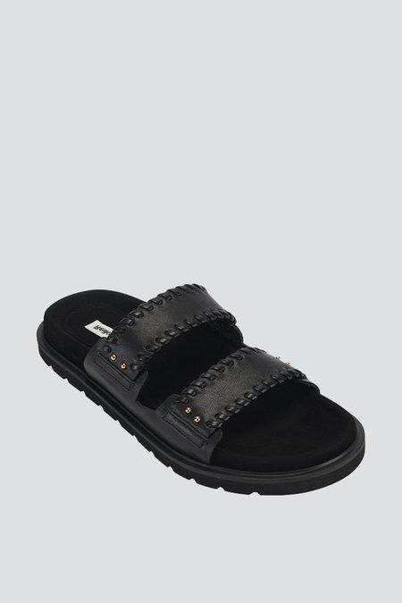 Reike Nen Turnover Mold Slippers - Black