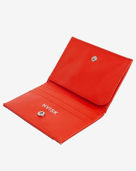 Hvisk Folded Croco Wallet - Orange/Red