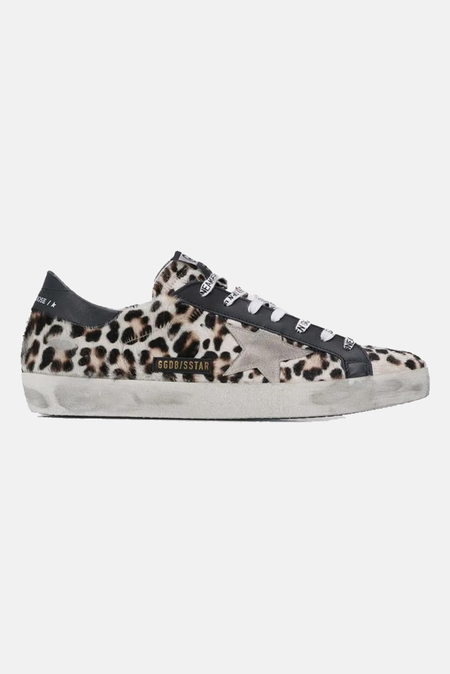 Golden Goose Superstar Shoes - Brown/Black Leopard
