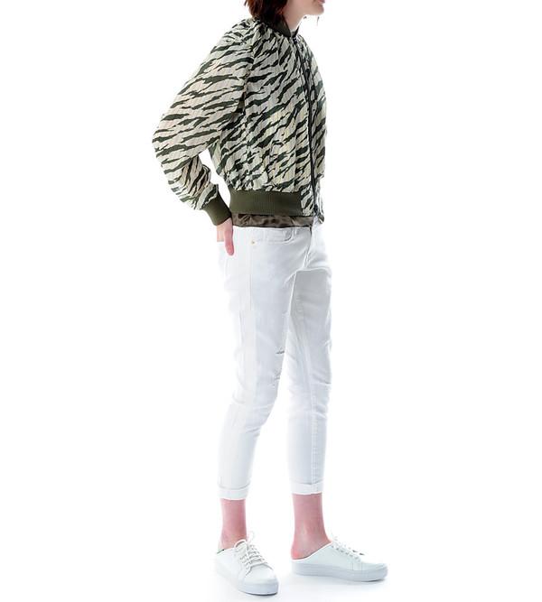 Sacai Luck Zebra Bomber Jacket