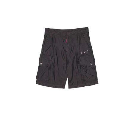 OFF-WHITE OW Logo utility shorts - black