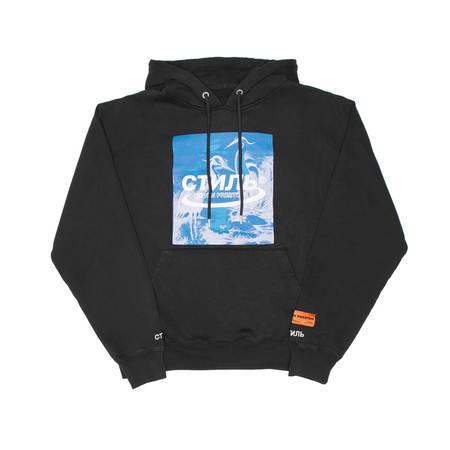 HERON PRESTON Herons Halo hoodie - Black