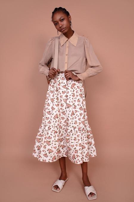 Meadows Magnolia Roses Skirt - cream