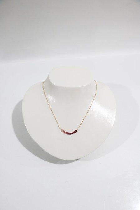 [Pre-loved] Perlina Bar Necklace - Tourmaline
