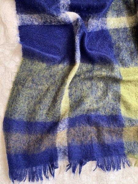 Cuttalossa & Co. Plaid Mohair Blanket - Navy/Green