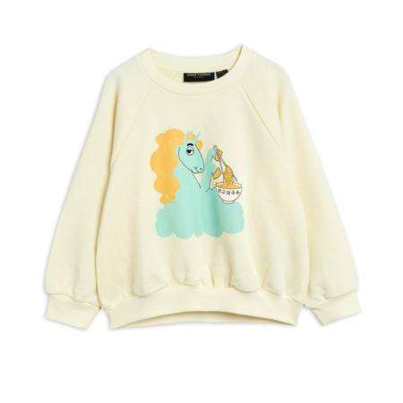 kids Mini Rodini Unicorn Noodles Sweatshirt - White