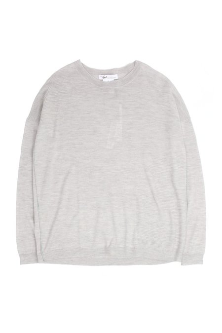 Paychi Guh L/S Textured Crew sweater - Cloud Grey