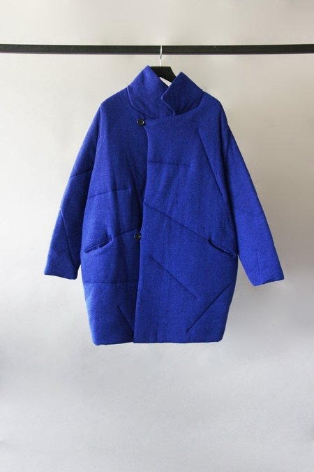 Oyuna Ocean Knitted Puff Coat - Ultramarine
