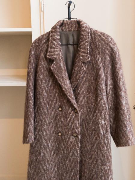 Vintage Wool Long Coat - Brown